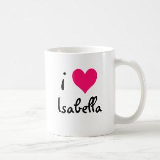 私はイザベラを愛します コーヒーマグカップ