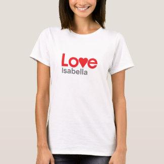 私はイザベラを愛します Tシャツ