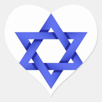 私はイスラエル共和国のステッカーを愛します ハートシール