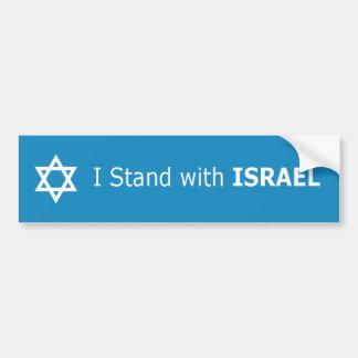 私はイスラエル共和国のダビデの星と立ちます バンパーステッカー