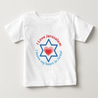 私はイスラエル共和国の私のハート- I愛エルサレムを残します ベビーTシャツ