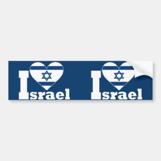 私はイスラエル共和国を愛します バンパーステッカー