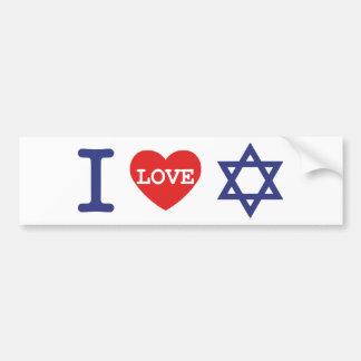 私はイスラエル共和国 のステッカーを愛します バンパーステッカー