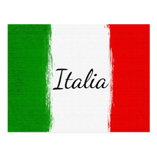 私はイタリアのItaly.Flagを愛します ポストカード