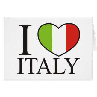 私はイタリアを愛します カード