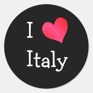 私はイタリアを愛します ラウンドシール