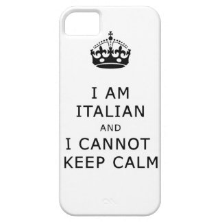 私はイタリアンであり、穏やかな電話箱を保つことができません iPhone SE/5/5s ケース