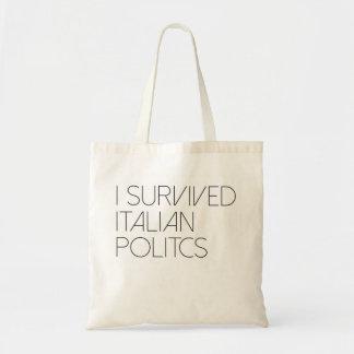 私はイタリアンな政治を生き延びました トートバッグ