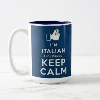 私はイタリアン私平静を保つことができませんです ツートーンマグカップ