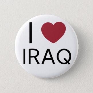私はイラクのバッジを愛します 缶バッジ