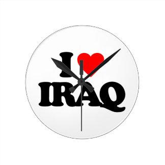 私はイラクを愛します ラウンド壁時計