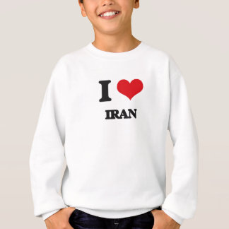 私はイランを愛します スウェットシャツ