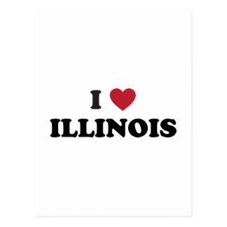私はイリノイを愛します ポストカード