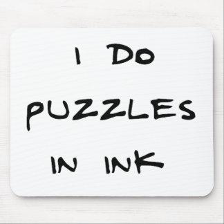 私はインクのパズルをします マウスパッド
