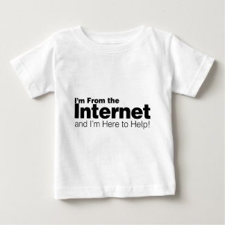 私はインターネットからあります ベビーTシャツ