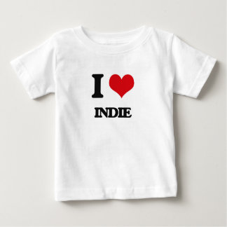 私はインディを愛します ベビーTシャツ
