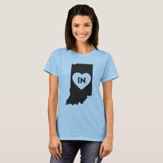 私はインディアナの州の女性の基本的なTシャツを愛します Tシャツ