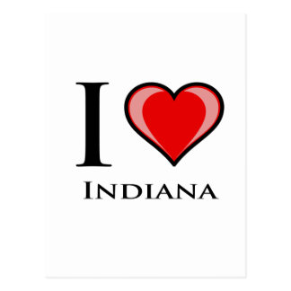 私はインディアナを愛します ポストカード