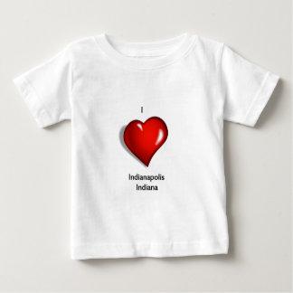 私はインディアナポリスインディアナを愛します ベビーTシャツ