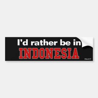 私はインドネシアにむしろいます バンパーステッカー