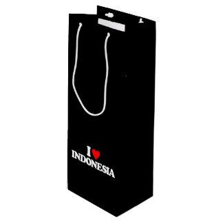 私はインドネシアを愛します ワインギフトバッグ