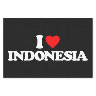 私はインドネシアを愛します 薄葉紙