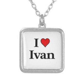 私はイヴァンを愛します シルバープレートネックレス