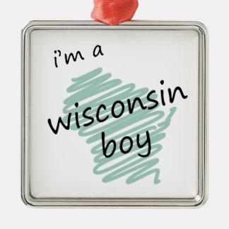 私はウィスコンシンの男の子です メタルオーナメント