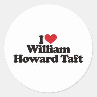 私はウィリアム・H・タフトを愛します ラウンドシール