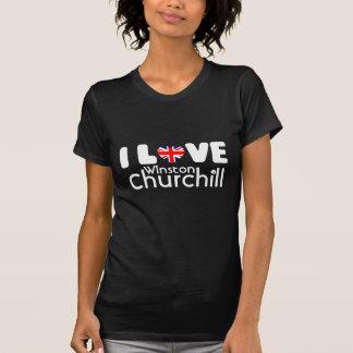 私はウィンストン・チャーチル|のTシャツを愛します Tシャツ