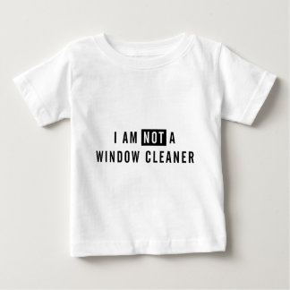 私はウィンドウ・クリーナのTシャツではないです ベビーTシャツ