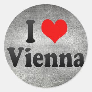 私はウィーン、オーストリアを愛します ラウンドシール