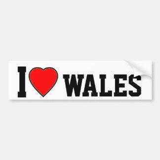 私はウェールズを愛します バンパーステッカー