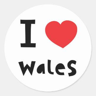 私はウェールズを愛します ラウンドシール