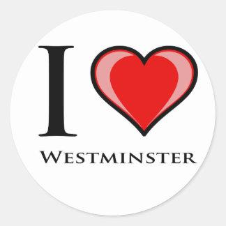 私はウエストミンスターを愛します ラウンドシール