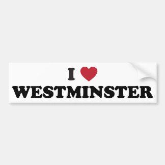 私はウエストミンスターコロラド州を愛します バンパーステッカー