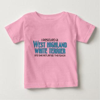 私はウエスト・ハイランド・ホワイト・テリアを救助しました(女性) ベビーTシャツ