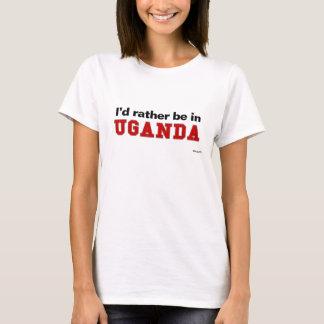 私はウガンダにむしろいます Tシャツ