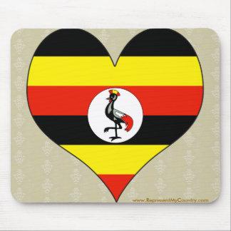 私はウガンダを愛します マウスパッド