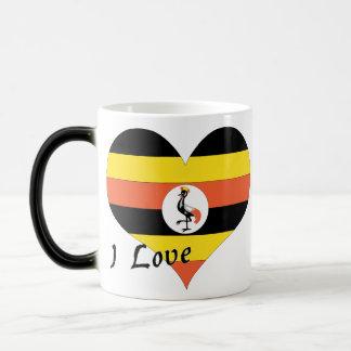 私はウガンダを愛します マジックマグカップ