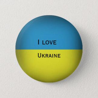 私はウクライナを愛します 缶バッジ