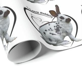 私はウサギの包装紙を愛します ラッピングペーパー