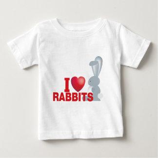 私はウサギを愛します ベビーTシャツ