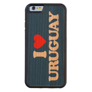 私はウルグアイを愛します CarvedチェリーiPhone 6バンパーケース