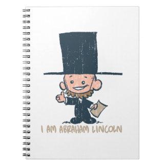 私はエイブラハム・リンカーンの螺線形ノートです ノートブック