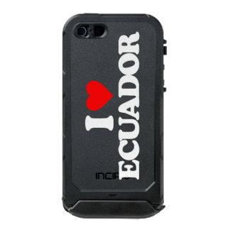 私はエクアドルを愛します ウォータープルーフiPhone SE/5/5sケース