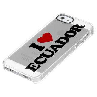 私はエクアドルを愛します クリア iPhone SE/5/5sケース