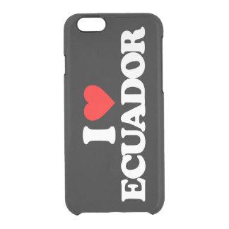 私はエクアドルを愛します クリアiPhone 6/6Sケース