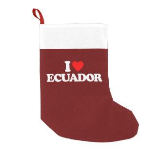 私はエクアドルを愛します スモールクリスマスストッキング