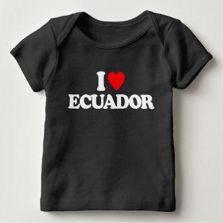 私はエクアドルを愛します ベビーTシャツ